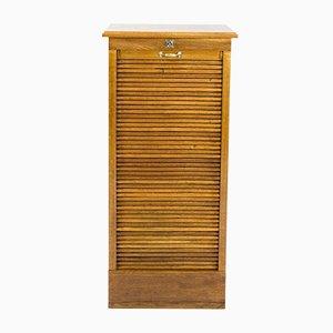 Vintage Bauhaus Oak Roll Front Cabinet, 1930s