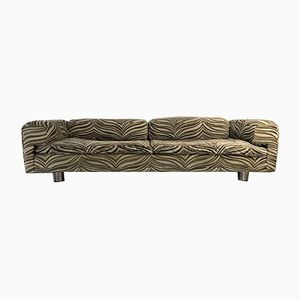 Large Zebra Print Diplomat Sofa by Howard Keith for H.K., 1970s