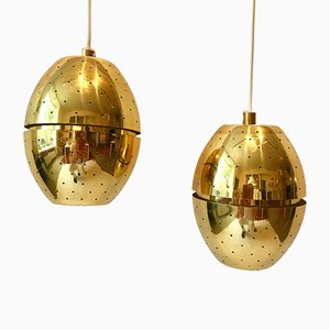 Brass Pendants by Hans-Agne Jakobsson, 1960s, Set of 2