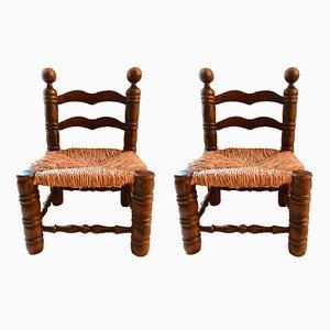 Stühle aus Holz, 1950er, 2er Set