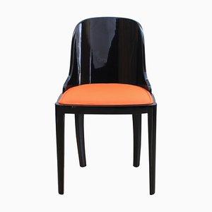 Art Deco Stuhl in Schwarz & Orange, 1930er