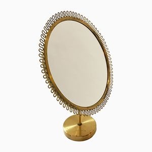 Brass Vanity Mirror by Josef Frank for Svenskt Tenn, 1950s