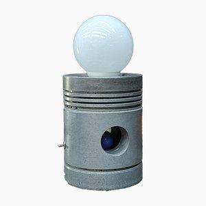 Lámpara de mesa industrial de aluminio, años 80