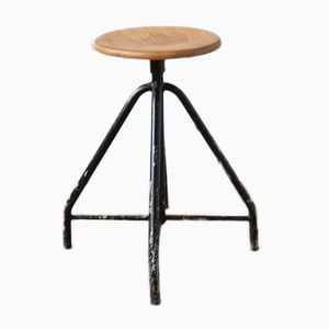 Industrial Black Stool, 1930s