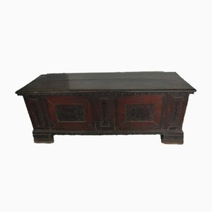 Antique Italian Inlaid Walnut Chest