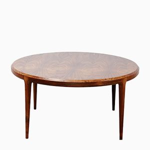Round Rosewood Coffee Table by Johannes Andersen for CFC Silkeborg, 1950s