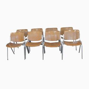 DSC Axis 106 Stühle von Giancarlo Piretti für Castelli, 8er Set