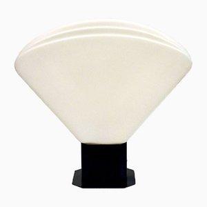 Lámpara de mesa de vidrio opalino de VeArt, años 70