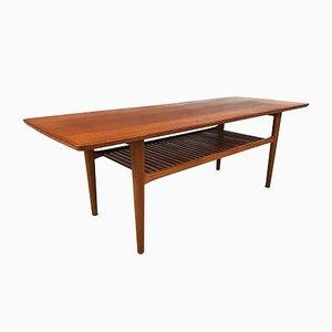 Grande Table Basse Mid-Century en Teck, Danemark, 1960s
