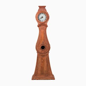 Reloj de caja alta sueco gustaviano antiguo