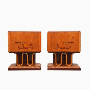 Vintatge Art Deco Sideboards, Set of 2
