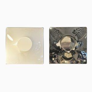 Wandlampen aus Plexiglas und Metall von Ennio Chiggio für Emmezeta, 1970er, 2er Set