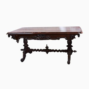 Victorian Library Table, 1800s