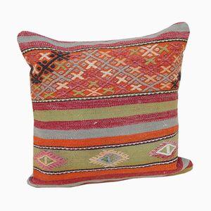 Kelim Kissenbezug mit geometrischem Muster von Vintage Pillow Store Contemporary, 2010er