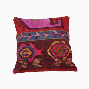 Großer handgewebter mehrfarbiger türkischer Wollkissenbezug von Vintage Pillow Store Contemporary