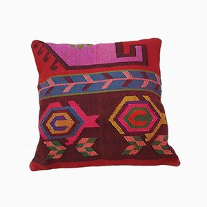Large Handwoven Turkish Multicolored Wool Pillow Cover from Vintage Pillow Store Contemporary, 2010s