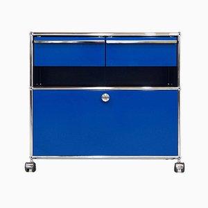Mueble azul de Fritz Haller para USM Haller, años 80