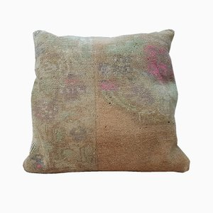 Muted Oushak Rug Cushion Cover from Vintage Pillow Store Contemporary, 2010s