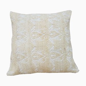 Turkish White Kilim Cushion Cover from Vintage Pillow Store Contemporary, 2010s