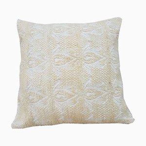Weißer türkischer Kelim Kissenbezug von Vintage Pillow Store Contemporary, 2010er