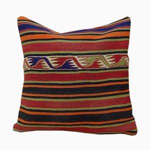 Grand Housse de Coussin à Motif Aztèque Faite Main de Vintage Pillow Store Contemporary, Turquie