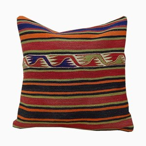 Large Handmade Turkish Pillow Cover with Aztec Pattern from Vintage Pillow Store Contemporary, 2010s