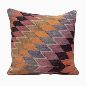Kelim Kissenbezug mit Diamanten-Muster von Vintage Pillow Store Contemporary, 2010er