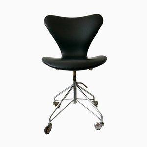 Sedia da ufficio nr. 3117 Mid-Century moderna di Arne Jacobsen per Fritz Hansen, anni '60