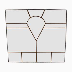 Paneles estilo Art Déco de vidrio con patas, años 40