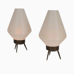 Mid-Century Tischlampen von Rotaflex, 2er Set