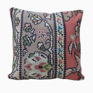 Housse de Coussin Kilim Florale de Vintage Pillow Store Contemporary, Turquie, 2010s