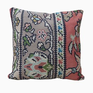 Turkish Floral Kilim Cushion Cover from Vintage Pillow Store Contemporary, 2010s