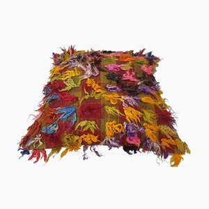 Large Turkish Shaggy Tulu Cushion Cover from Vintage Pillow Store Contemporary, 2010s