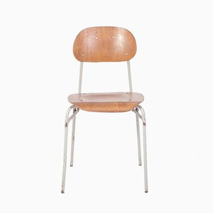 Vintage Industrial School Chair, 1960s