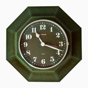Green Wall Clock from Junghans, 1970s