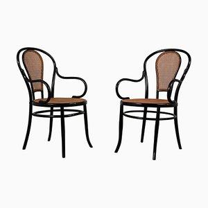 Chaises de Salle à Manger N°11 Antiques en Bois Courbé de Mundus, Set de 6