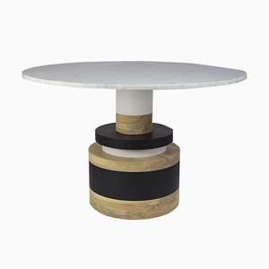 Medium Carrara Marble Sass Dining Table by MPGMB for Souda