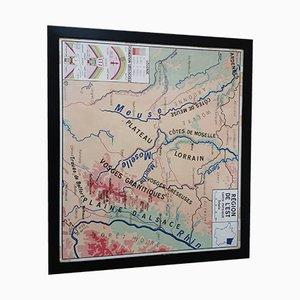Mapa escolar vintage