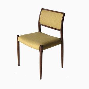 Vintage Modell 80 Stühle von Niels O. Møller für J.L. Møller, 4er Set