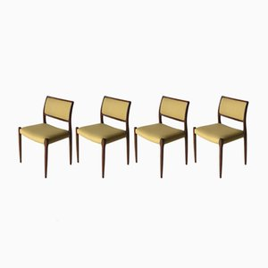 Vintage Model 80 Chairs by Niels O. Møller for J.L. Møller, Set of 4