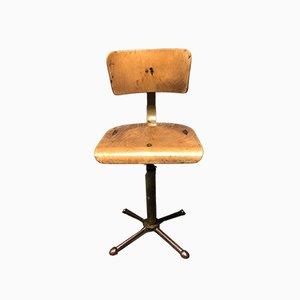 Silla de escritorio alemana industrial, años 40