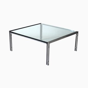 M1 Glass and Steel Table by Hank Kwint for Metaform, 1970s