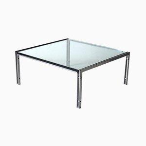 M1 Tisch aus Glas & Stahl von Hank Kwint für Metaform, 1970er