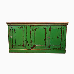 Antique Green Gloss Cupboard