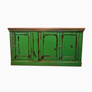 Credenza antica verde lucida