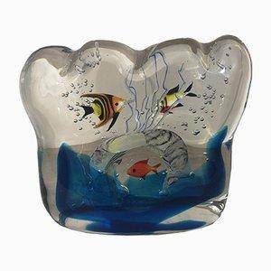 Murano Glass Aquarium Sculpture by Walter Furlan, 2000s