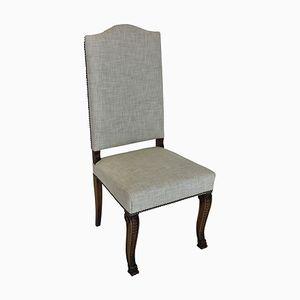 Französische Esszimmerstühle mit hoher Rückenlehne, 1830er, 6er Set