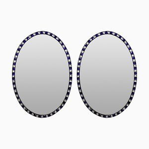 Georgian Style Irish Studded Mirrors, 1970s, Set of 2
