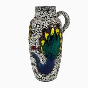 Vintage Peacock Vase von Scheurich, 1970er