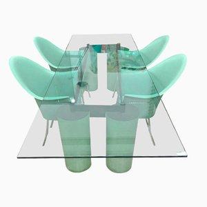 Chaises de Salle à Manger Vintage par Philippe Starck pour Driade Aleph et Table par Massimo et Lella Vignelli pour Acerbis